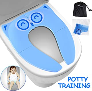 Portable Potty Seat on Toilet Opret Foldable Travel Potty Training Seat with La