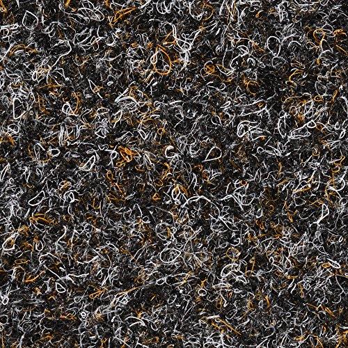 BODENMEISTER BM73501 Teppichboden Nadelfilz Nadelvlies Meterware Objekt schwarz braun 200 cm und 400 cm breit, verschiedene Längen, Variante: 4 x 2 m