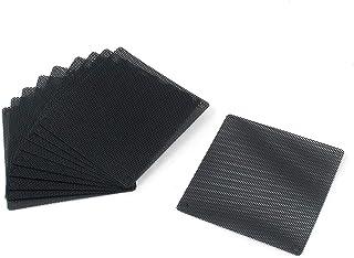 Karcy Case Dust Filter Computer Fan Grille PVC 80x80mm/3.15x3.15 (LxW) Black Set of 10