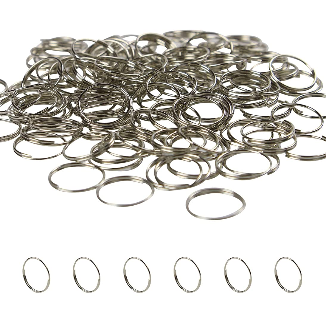 BIHRTC 150Pcs Metal Split Rings, Crystal Chandeliers Connectors Part for Chandelier, Curtain,Suncatchers, Crystal Garland,Necklaces, Earrings, Other Jewelry Making and Craft Ideas(Chrome,16mm)