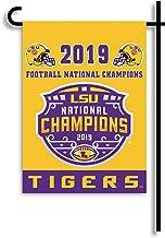 BSI LSU CFP Champs 2-Sided Garden Flag, Purple/Gold