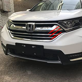 Beautost For Honda 2017 2018 2019 CR-V Crv LX Model Chrome Front Grill Grille Cover Trim -3Pcs