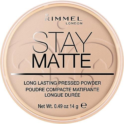 Rimmel London Stay Matte Pressed Powder, 005 Silky Beige