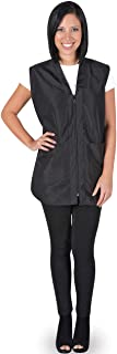 Betty Dain Professional Zip Front Salon Stylist Vest, V-Neck, Iridescent Fabric, Adjustable Belt, Machine Washable Nylon
