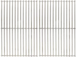 Hongso 19 1/4 inch SUS 304 Stainless Steel Solid Rod Cooking Grates Replacement Parts for Jenn-Air 720-0336, Nexgrill 720-0163, 720-0433, Brinkmann 810-8534-S, Uberhaus, SCF3S2 (2-Pack)