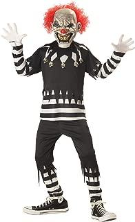 Kids Creepy Clown Costume Small (6-8)