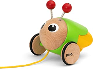 BRIO Infant Toddler 30255 - Pull Along Light Up Firefly - Wood Pull Along Toy with Light Up Function for for Kids Ages 1 a...