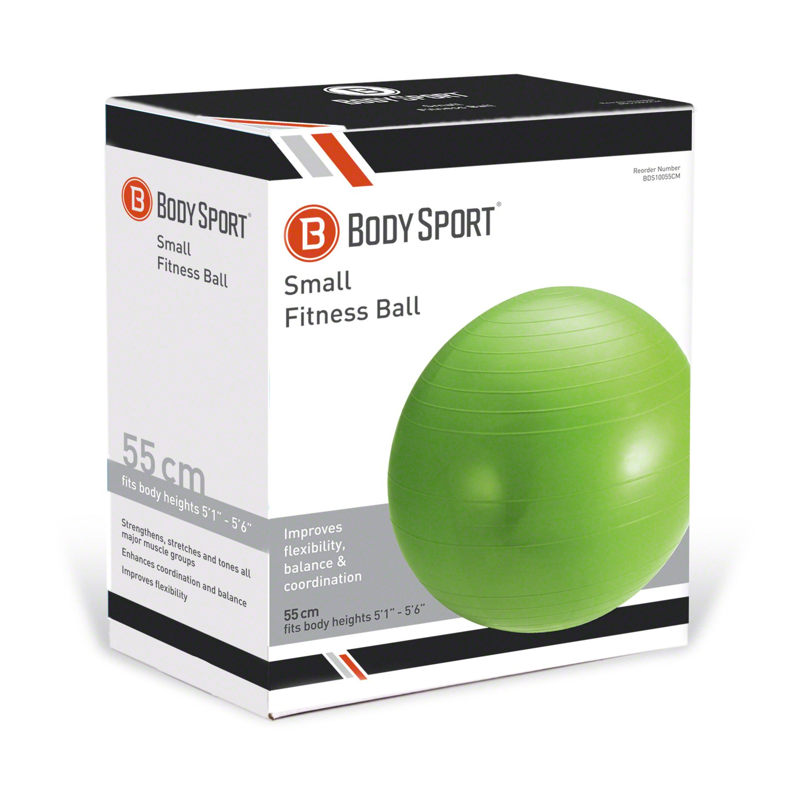 Amazon Com Body Sport Exercise Ball With Pump For Home Gym Balance Stability Pilates Core Strength Stretching Yoga Fitness Facilities Desk Chairs Green 55cm Sports Outdoors