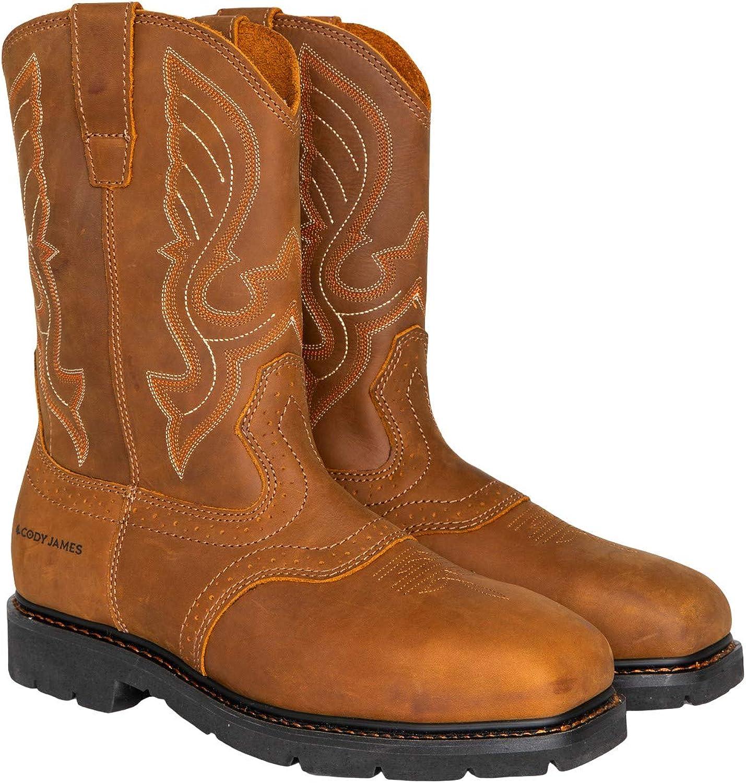 Cody James Men's Western Work Boot Steel Toe - C9pr8