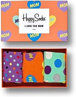 Happy Socks Calcetines Unisexo Mother's Day Gift Box Paquete de 3 Tamaño 36-40