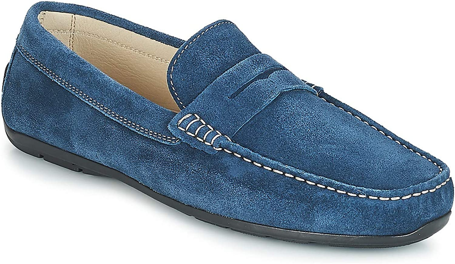 André FRIOUL Loafers & Boat shoes Men bluee Loafers