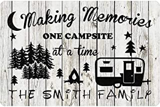 Gxiliru Personalized Camping Sign Making Memories One Campsite at A Time Camping Accessories Wall Decor for Travel RV Indo...