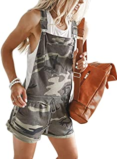 Coolred-Women Camo Athletic Fit Elastic Patchwork Tight Fitted Overalls Bib