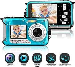 Waterproof Camera Full HD 1080P Underwater Camera 24 MP...