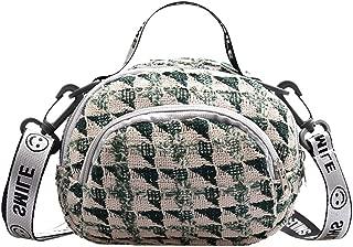 SUNyongsh Fashion Women's Simple Style Solid Color Canvas Shoulder Bag Messenger Bag Fashion Lady Shoulder Bag
