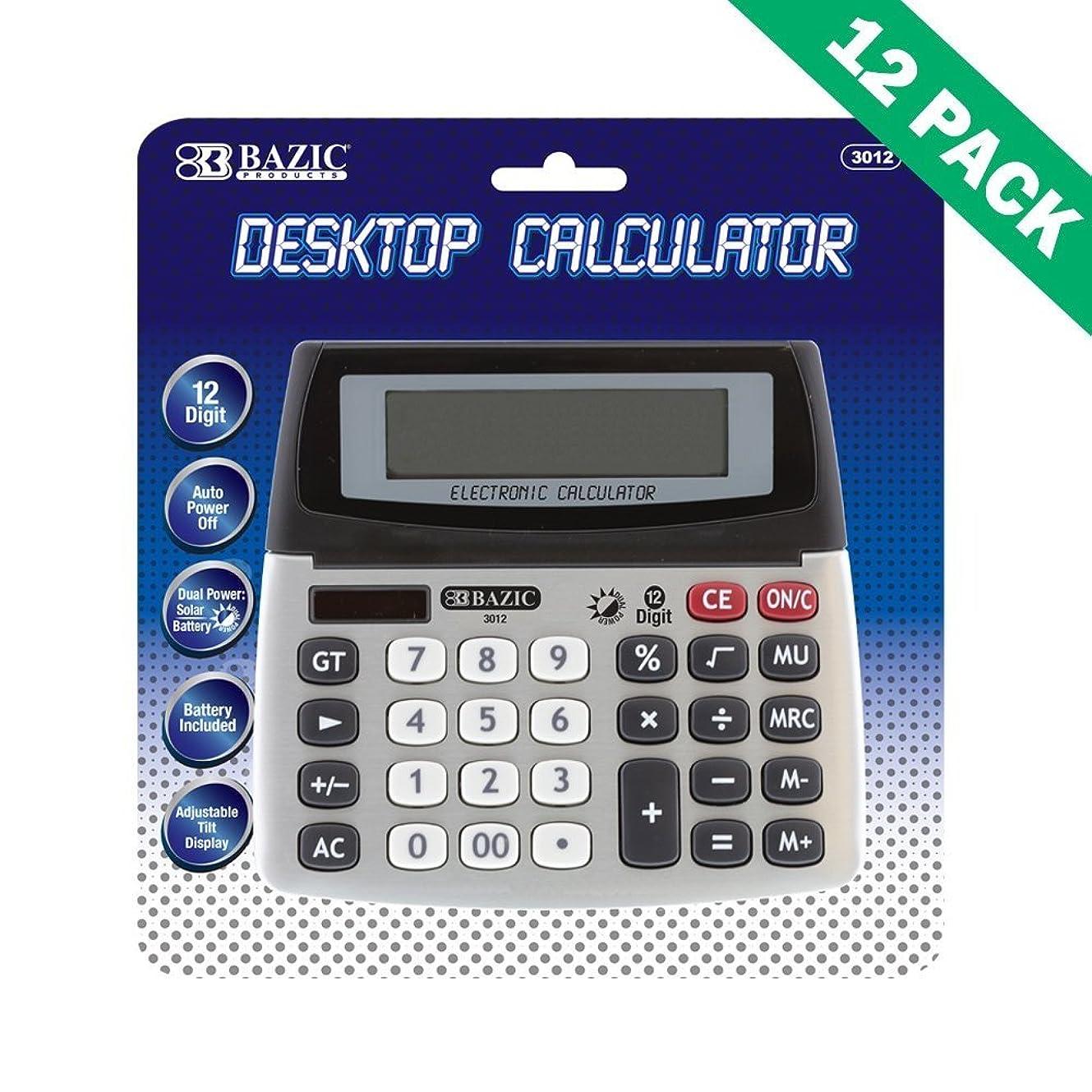 ご近所欠点理解デスク電卓、12桁デスクトップ電卓for College ( 12ケース単位)