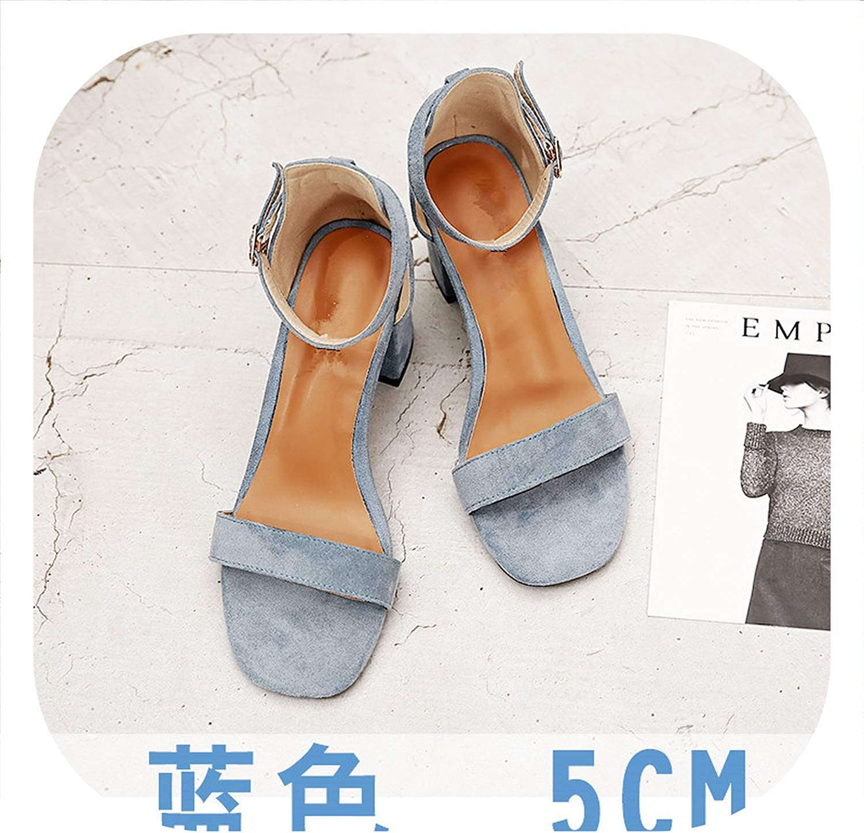 HANBINGPO Beige Black Gladiator Sandals Summer Office High Heels Buckle Strap Pumps Casual Plus Size