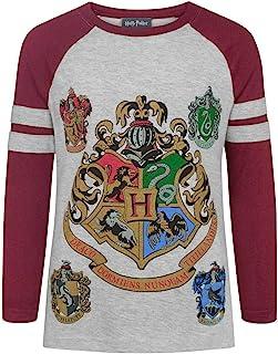 Harry Potter - Hogwarts - Maglietta con Maniche Raglan - Ragazze
