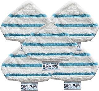 5 almohadillas de repuesto lavables para fregona de vapor de Orcbee para Black and Decker FSM1610.
