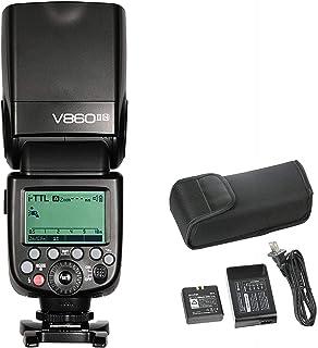 Godox V860II N Kit Flash Speedlite for Nikon DSLR Camera (Wireless System, LCD Display Black