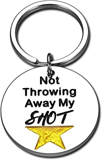 Back to School Gifts for Kids Students Hamilton Broadway Musical Merchandise Inspirational Keychain for Teen Girls Boys