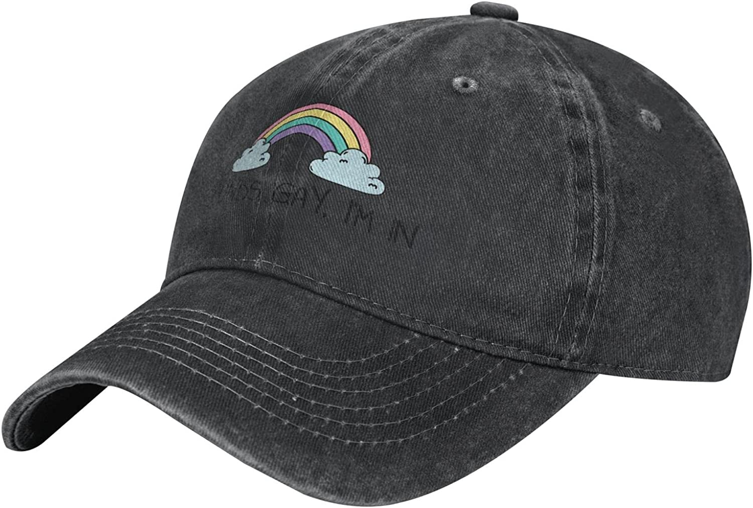 Sounds Gay I'm in Unisex Adult Fashion Outdoor Cowboy Caps Adjustable Baseball Cap
