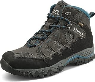 Men's Mid Hiking Boot Hiker Leather Waterproof Lightweight Outdoor Backpacking Trekking Shoe