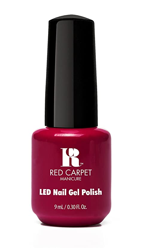 ひばり演劇アトムRed Carpet Manicure - LED Nail Gel Polish - Mulled Wine - 0.3oz/9ml