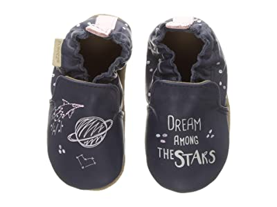 Robeez Dream Among the Stars Soft Sole (Infant/Toddler) (Navy) Girl