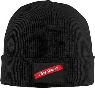 Red Stripe Beer Man Women Unisex Winter Warm Acrylic Watch Knit Wool Beanie Cap Hat Size US Black