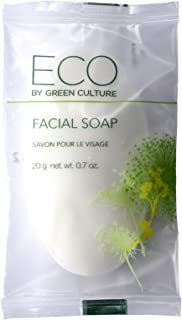 Eco by Green Culture Hotel Amenities Facial Soap Bar, 20gm (100 Pack)