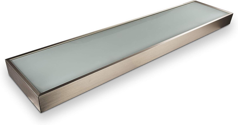 SO-TECH LED-Leuchtregal Dallas 1200 x 200 mm Edelstahloptik inkl. 18 W LED-Leuchte, Netzkabel u. Schalter