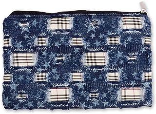 Doodle Multipurpose Pouch for Women, Cosmetic & Stationary Set, Travel Organiser kit (Ripped Denim)
