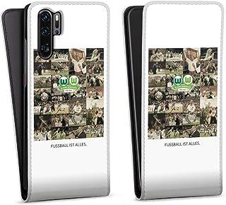 DeinDesign Flip Case kompatibel mit Huawei P30 Pro Tasche Hülle Offizielles Lizenzprodukt VFL Wolfsburg Statement