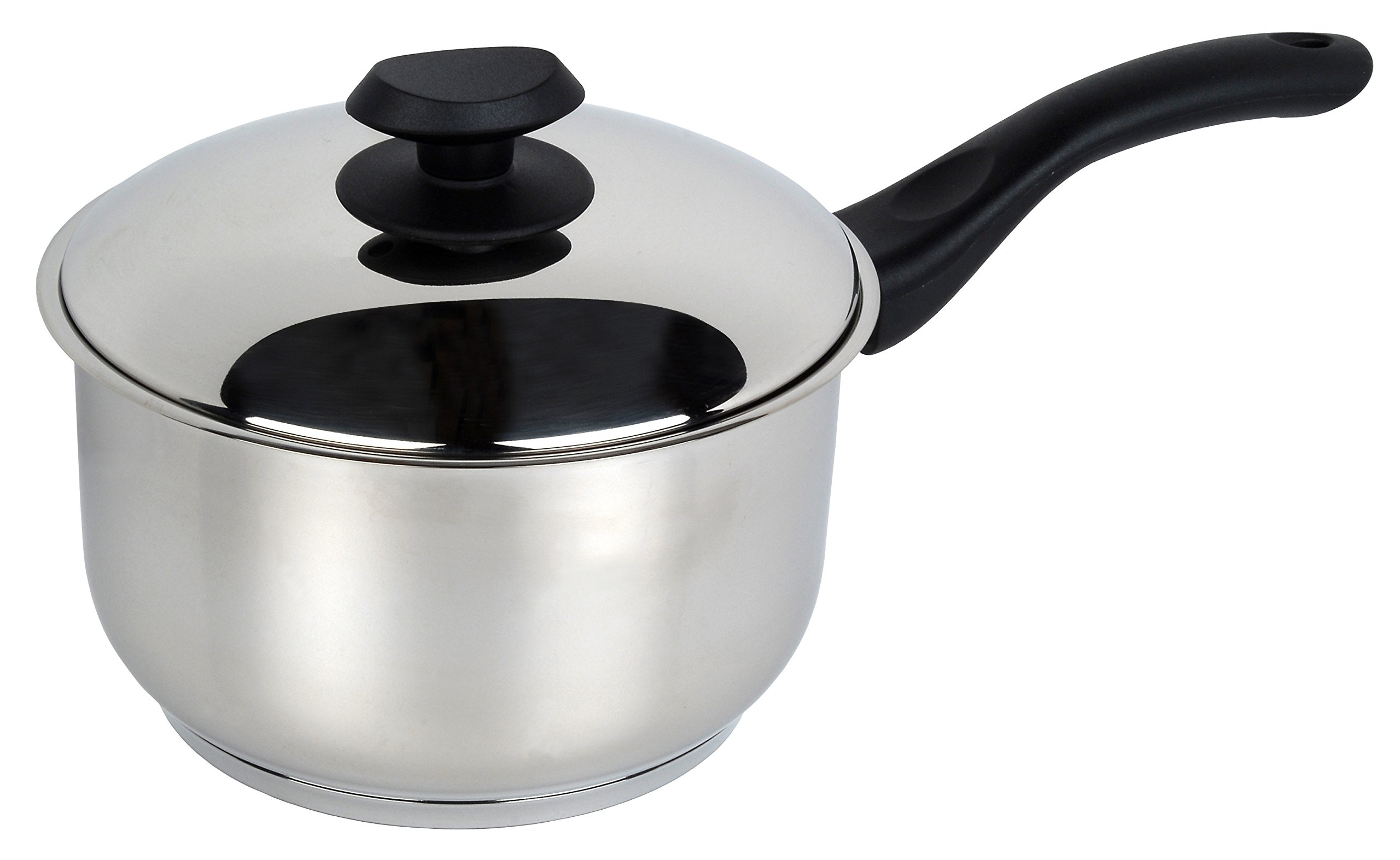 Small Milk Pan for Home Kitchen Restaurant Cooking Easy Clean 14cm//1L TeamFar Saucepan Professional Stainless Steel Sauce Pan with Lid