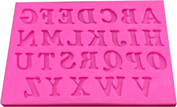 Silicon 3D Alphabetical English letters silicon mold size 10 x 6.5 x 0.7 cm for cake chocolate decoration party supplies
