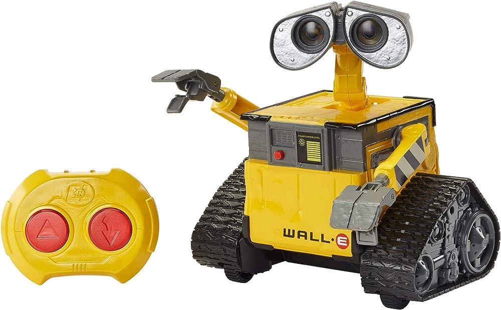 Mattel disney robot pixar wall-e hello con controllo remoto, luci e suoni, giocattolo per bambini 4+ anni, GPN30