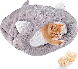 Polar miękki kot śpiwór ogrzewający nadające się do prania łóżka dla zwierząt domowych przytulanka worek koc mata koty psy...