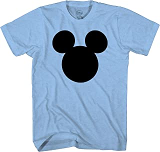 Disney Mickey Mouse Head Silhouette Men's Adult Graphic Tee T-Shirt