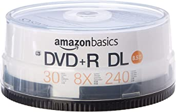 AmazonBasics 8.5GB 8x DVD+R DL - 30-Pack Spindle