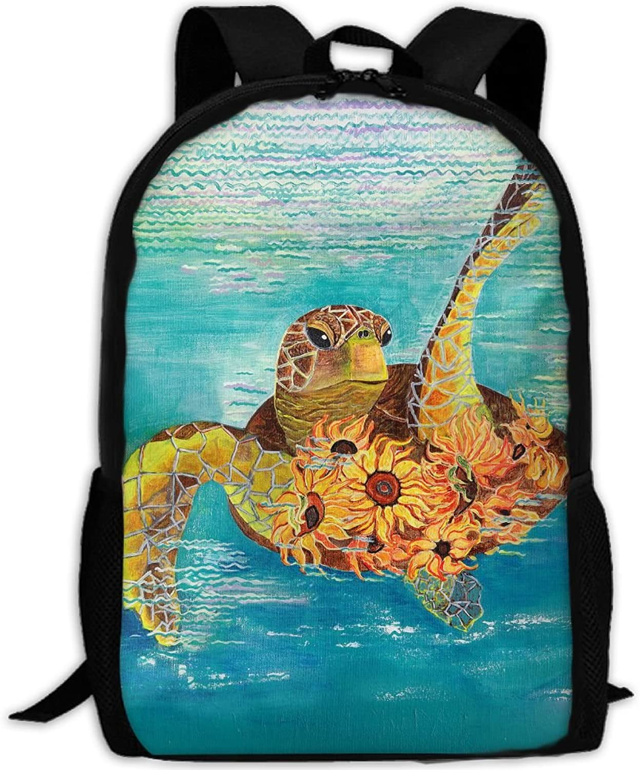 Adult Backpack Turtle College Daypack Oxford Bag Unisex