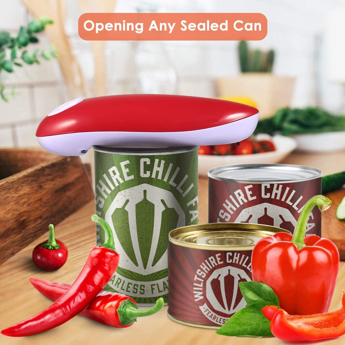 Restaurant can Opener Chefs Best Choice,Best Kitchen Gadget for Arthritis Electric Can Opener Smooth Edge Automatic Electric Can Opener