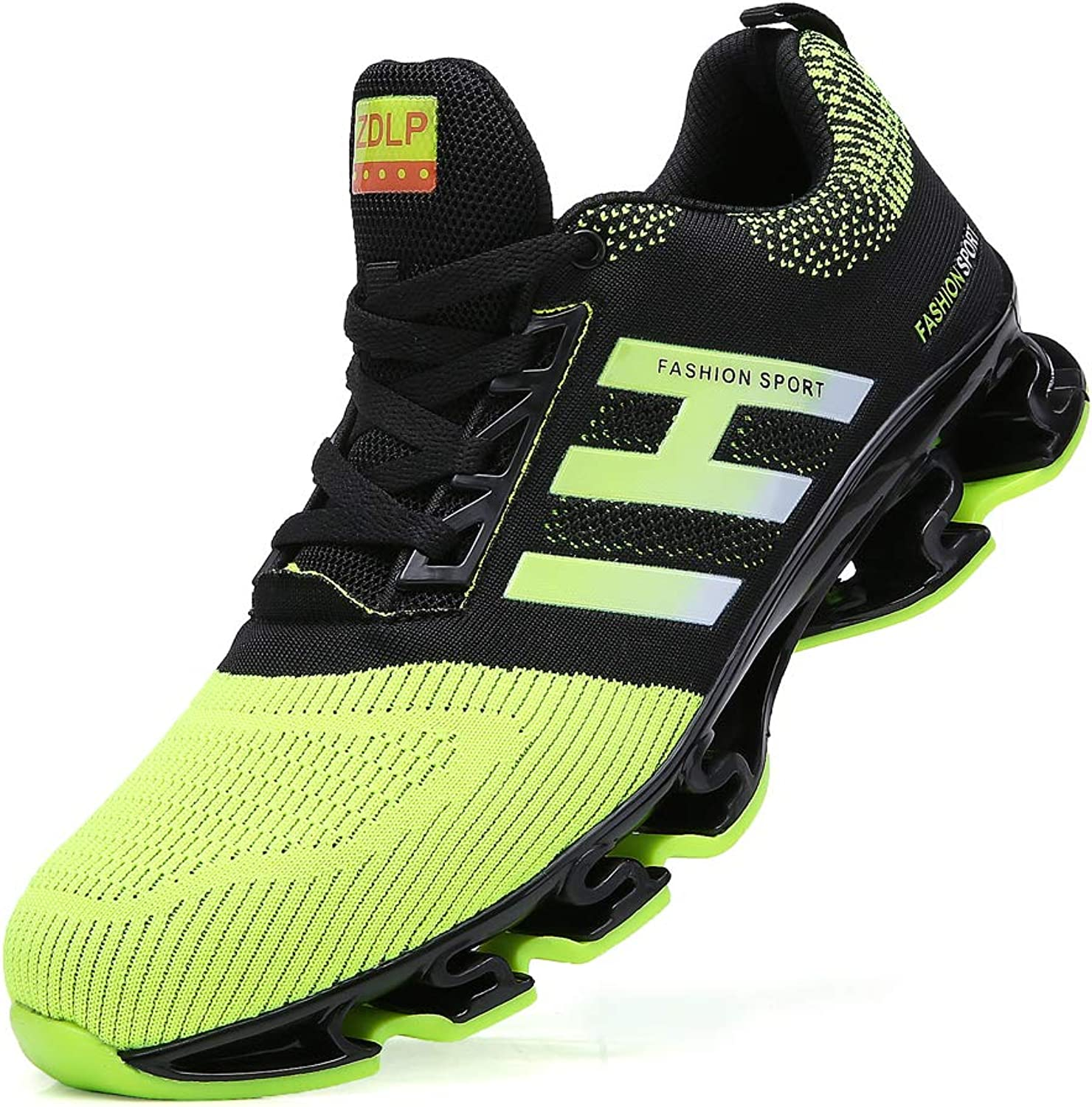 SKDOIUL Springblade Sport Running shoes for Mens Mesh Breathable Trail Runners Green Size 8.5 (656-green-42)