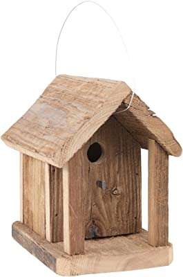 Pine Cone Rustic Wood Birdhouse