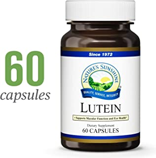 Nature's Sunshine Lutein, 10 mg, 60 Capsules | Helps Protect Against UV Damage, Supports Eye Health, and Provides Powerful Antioxidant Properties