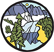 Folk Art Scenic Scene 2-3 Inch Full Color Decal for Stainless Steel Tumbler - Proudly Made In The USA From Adhesive Vinyl (Tumbler NOT included)