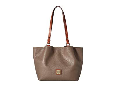 Dooney & Bourke Pebble Small Flynn (Elephant/Tan Trim) Handbags