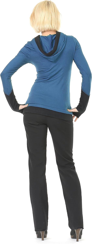 3Elfen Sweat-Shirt à Capuche de Femme Petrol