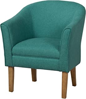 HomePop Chunky Textured Accent Chair, Teal