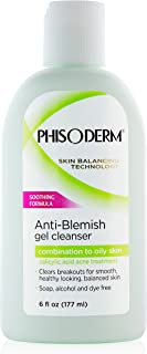 pHisoderm Anti-blemish Gel Cleanser, for Oily, Combo and Acne-prone Skin, 6 Fluid Ounce Bottle (Pack of 4)